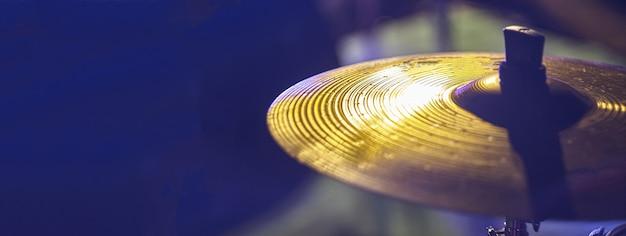 Trommelplattendetail, bannerbild mit kopienraum