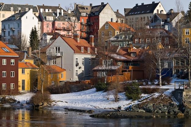Trondheim landschaft winter stadt schnee