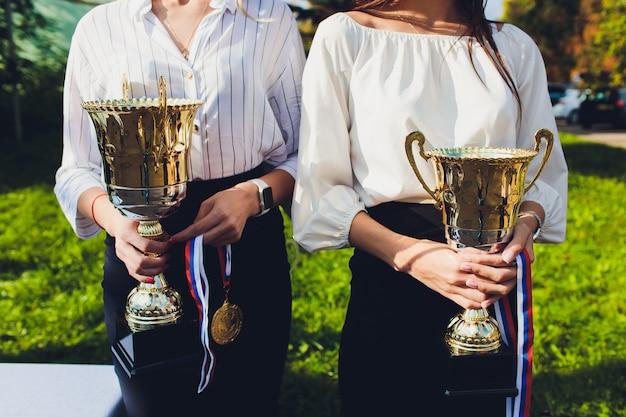 Trophäenpreise für die meisterführung im turnier, zeremonieerfolg für siegespreise.