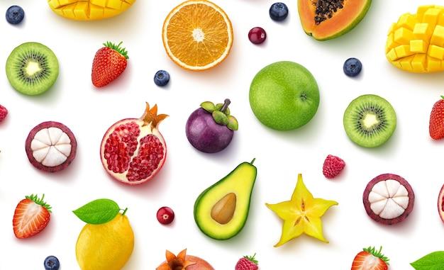 Tropische früchte und beeren