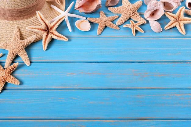 Tropische strand sommer starfish hintergrund grenze