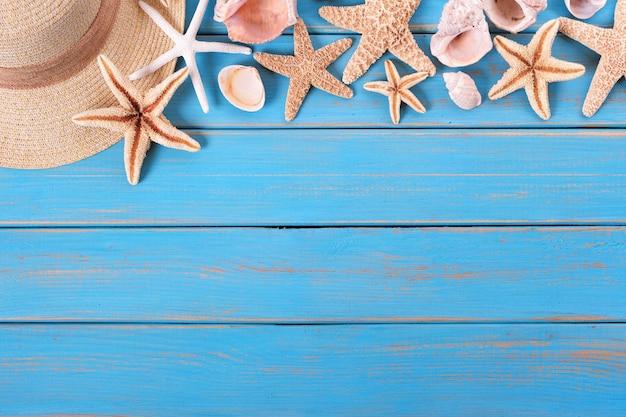 Tropische strand sommer starfish oberkante hintergrund grenze