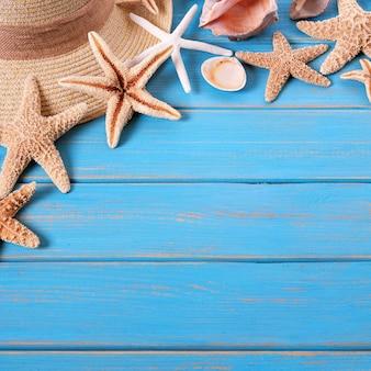 Tropische strandsommer starfishhintergrundgrenze