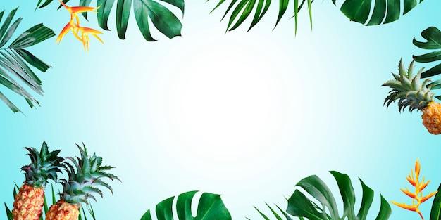 Tropischer hintergrund des sommers mit kopienraum