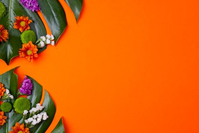 Tropischer orange hintergrund