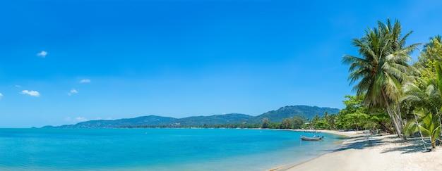 Tropischer strand auf samui