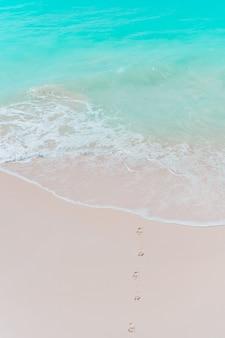 Tropischer strand mit weißem sand am sommer