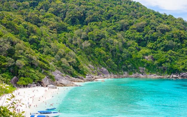 Tropischer strand, similan inseln
