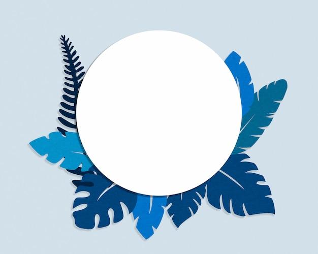 Tropisches klassisches blau