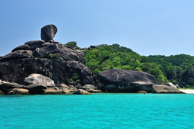 Tropisches paradies, similan-inseln, andamanensee, thailand