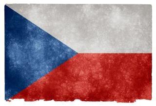 Tschechien grunge fahne grau