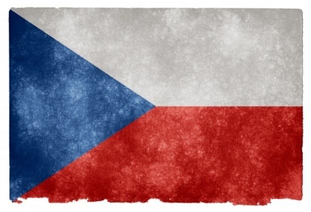Tschechien grunge flag