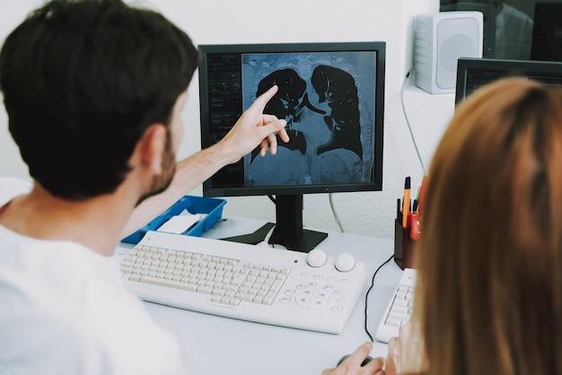 Tuberkulose-lungen-onkologische krankheit auf ct