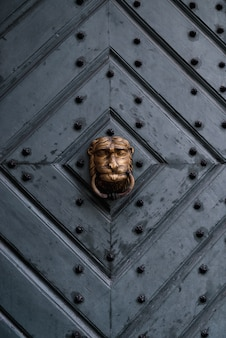 Tür, altes eingangstor, tor, portal