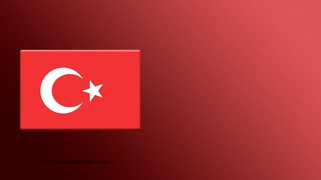 Türkei flagge auf realistischer plattform