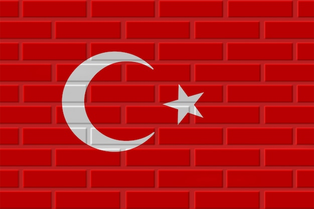 Türkei ziegelflaggenillustration