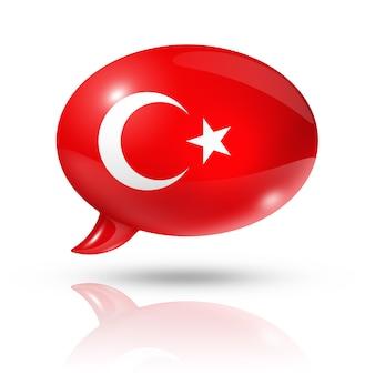 Türkische flagge sprechblase