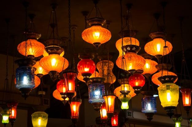 Türkische lampen im arabischen stil