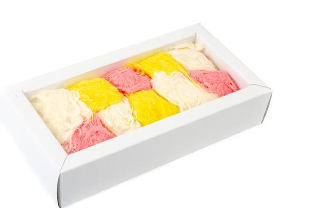 Türkische süße von zucker halvah pishmanie farbe