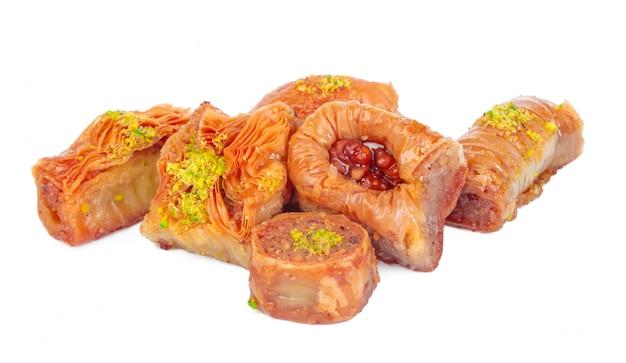 Türkisches ramadan-nachtisch-baklava lokalisiert
