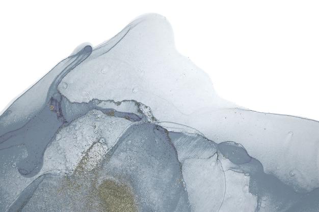 Türkisfarbene aquarellflecken isoliert auf weißem hintergrund