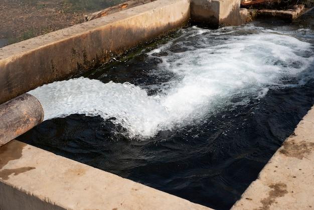 Turbinenpumpe, feldbewässerungssystem im bezirk pakpattan, punjab, pakistan