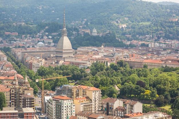 Turin, italien, luftaufnahme
