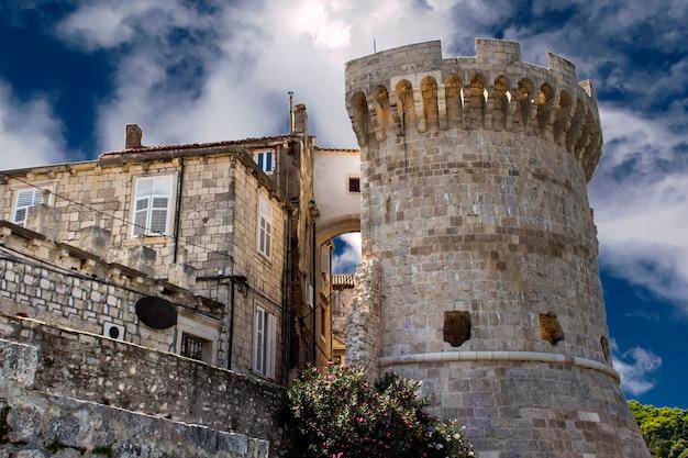 Turm kanalevic in korcula, kroatien