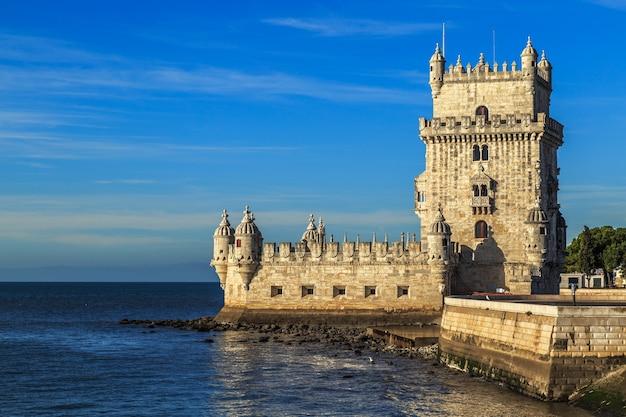Turm von belem oder torre de belem in lissabon, portugal
