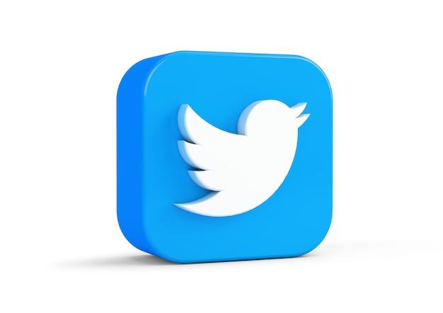 Twitter-symbol vom hintergrund isoliert