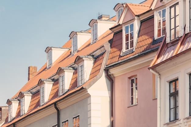 Typische häuser in riga, lettland