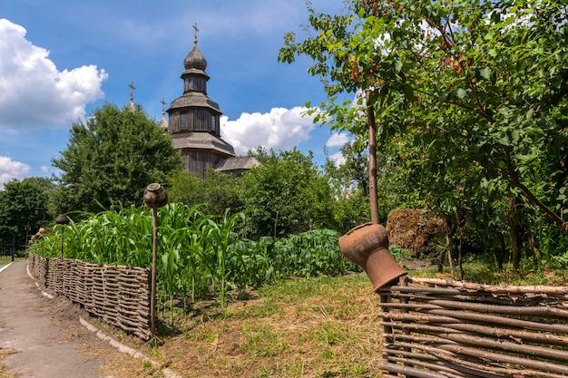 Typische ukrainische landschaft.