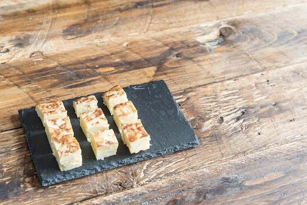 Typischer tapa des spanischen omeletts