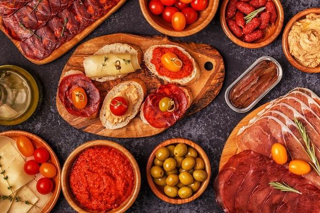 Typisches spanisches tapas-konzept