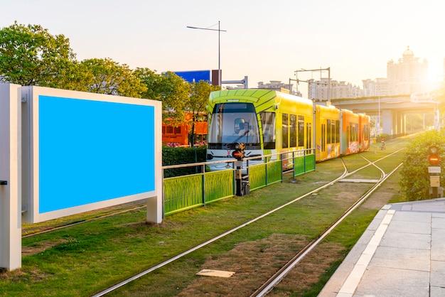 U-bahn-light-rail-station werbung lampe box