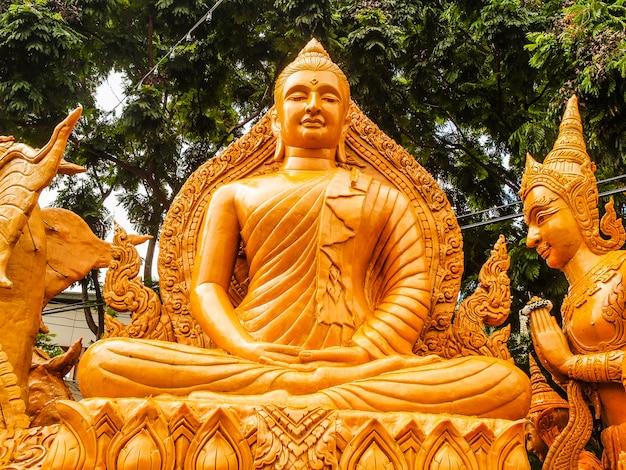 Ubon ratchathani candle festival-nordostregion, thailand