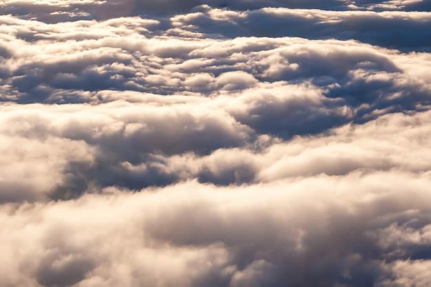 Über den wolken eine draufsicht
