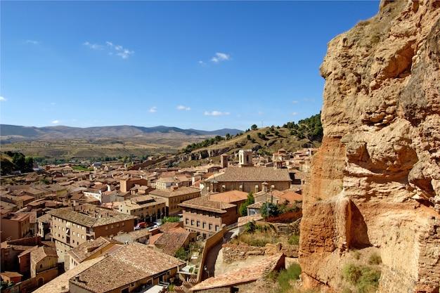 Überblick über darona, provinz saragossa, aragonien, spanien