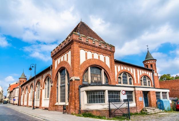 Überdachter markt in bydgoszcz, der woiwodschaft kujawien-pommern in polen