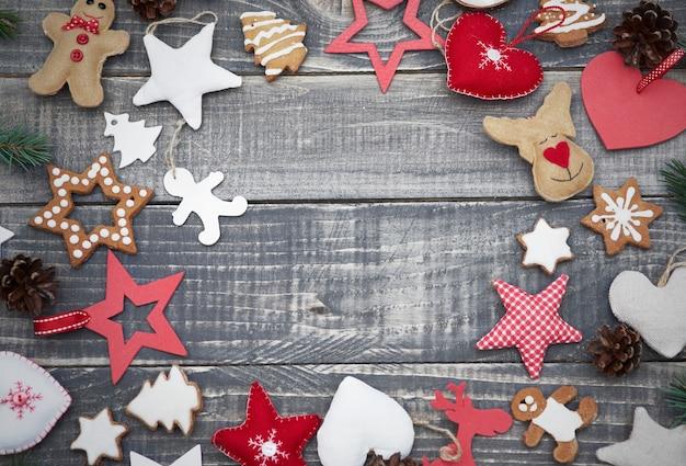 Überfluss an niedlichen weihnachtsschmuck