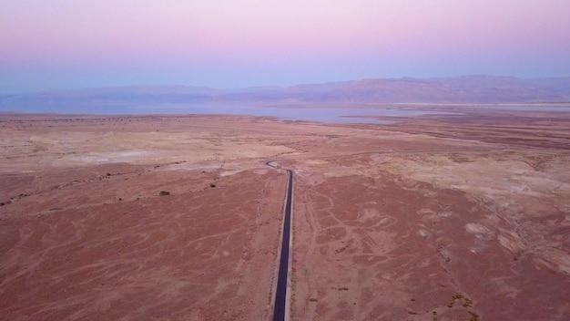 Überführung der wüste durch das tote meer in israel