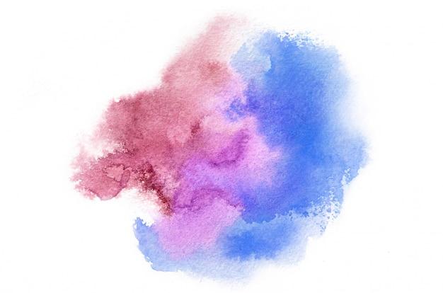 Übergeben sie gezogene aquarellform in den kalten tönen für ihr design. kreativer gemalter hintergrund, handgemachte dekoration