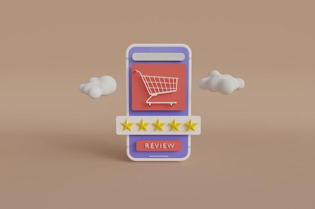Überprüfen sie ihr shoping 3d-rendering