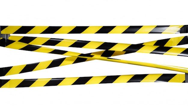 Überqueren sie nicht die gelb-schwarze warnung des kriminellen bereichs