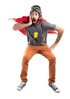 Überraschter superheld