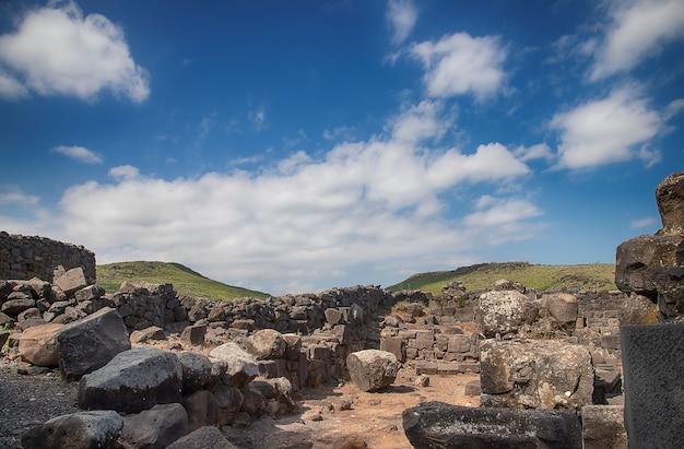 Überreste der altstadt von korazim, israel