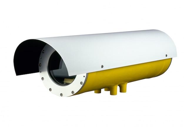 Überwachungskamera auf weiß