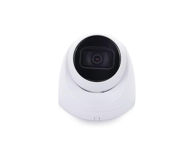 Überwachungskamera cctv isoliert auf weiß