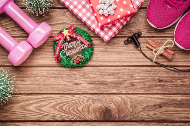 Übung, eignung und ausarbeiten auf weihnachtszeithintergrund