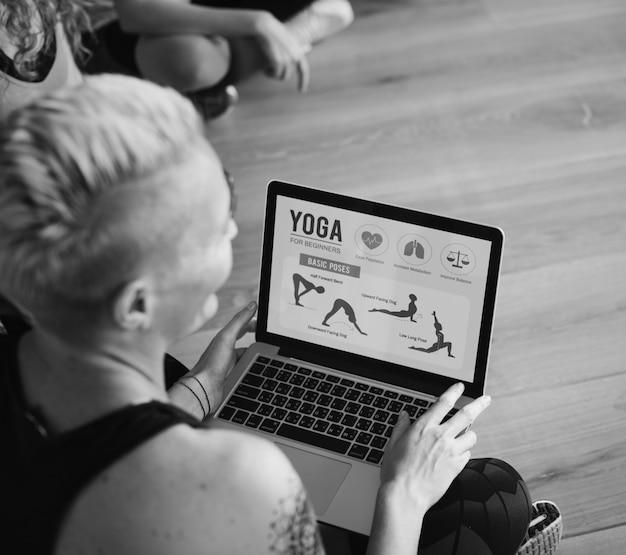 Übung international group entspannung fitness-konzept